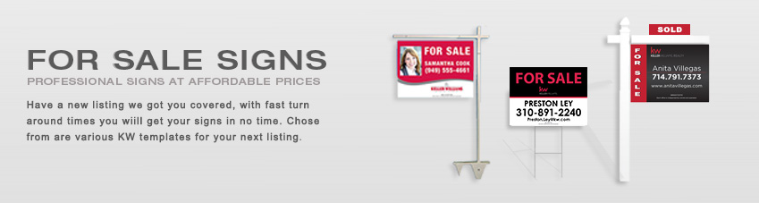 JustClickKW - Keller Williams - For Sale Signs Template Section Banner