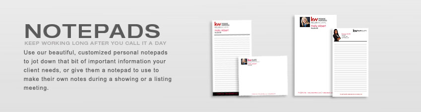 JustClickKW - Keller Williams - Notepads Section Banner