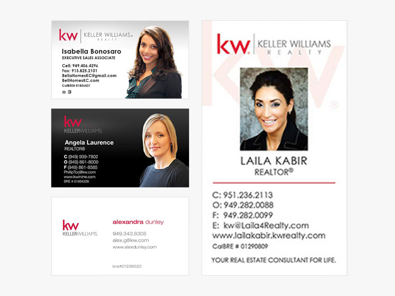 JustClickKW - Keller Williams - Business Card Template Section Banner