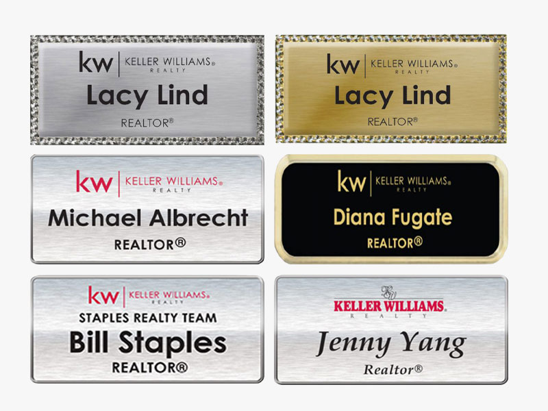 JustClickKW - Keller Williams - Name Badge Template Section Banner