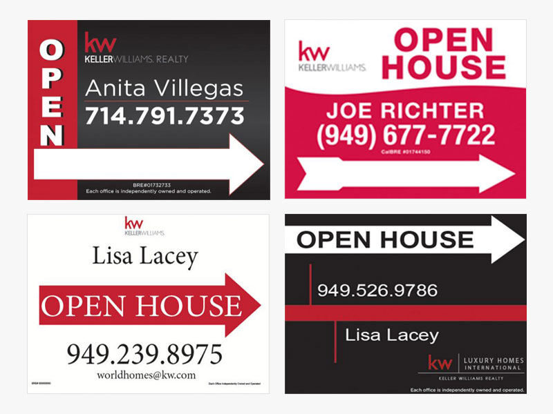 JustClickKW - Keller Williams - Open House Signs Template Section Banner