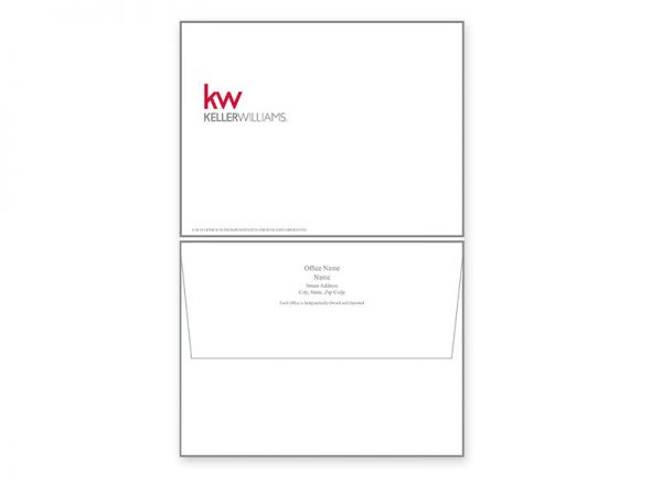 JustClickKW - Keller Williams - Envelope template - kw1-e