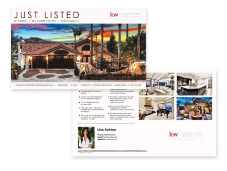 JustClickKW - Keller Williams - Just Listed Postcard template - kw2-pc