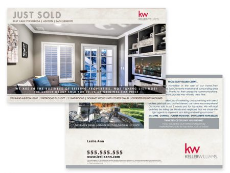 JustClickKW - Keller Williams - Just Sold Postcard template - kw3-pc