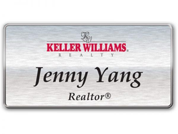 JustClickKW - Keller Williams - Silver Name Badge - kw4-nb