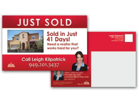 JustClickKW - Keller Williams - 8x5 Postcard Just Sold template - kw4-pc-8x5