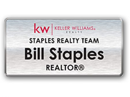 JustClickKW - Keller Williams - Silver Name Badge - kw6-nb