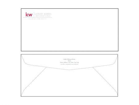 JustClickKW - Keller Williams - Envelope template - kw8-e